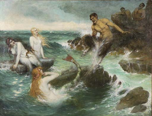 Ferdinand_Leeke_-_The_Mermaids-_1921