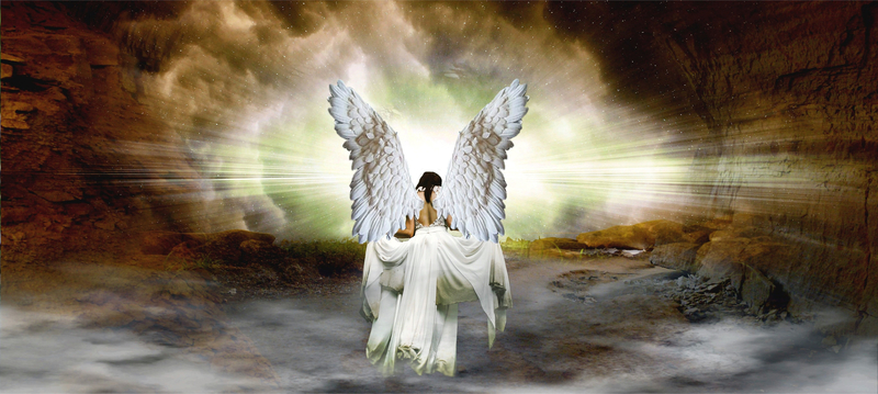 angel-entering-heaven-with-light