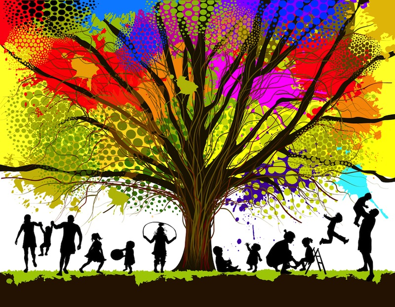 colorful-family-tree