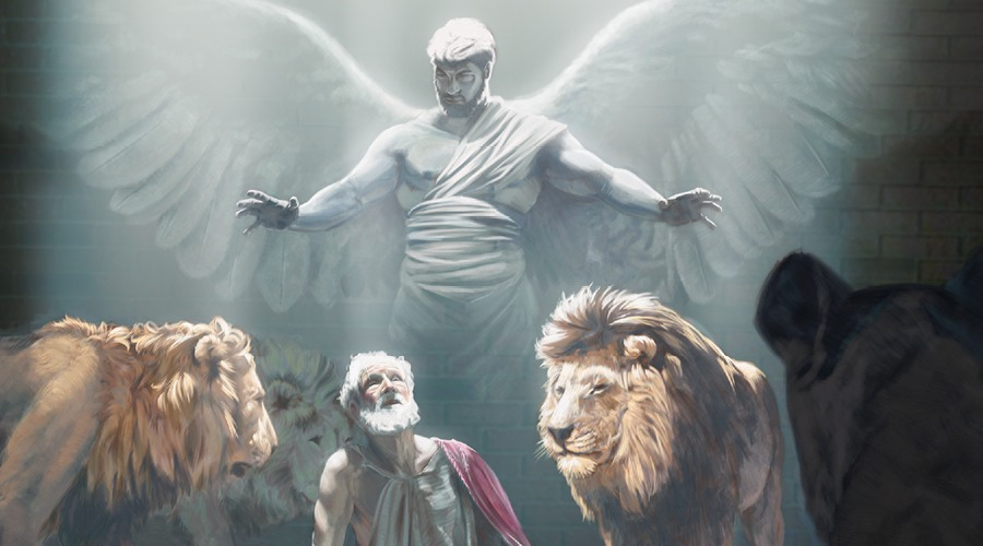 angel-protects-from-lion--bible