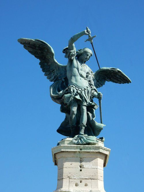 archangel-michael-statue-sword