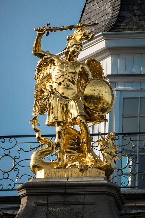 archangel-michael-golden-statue