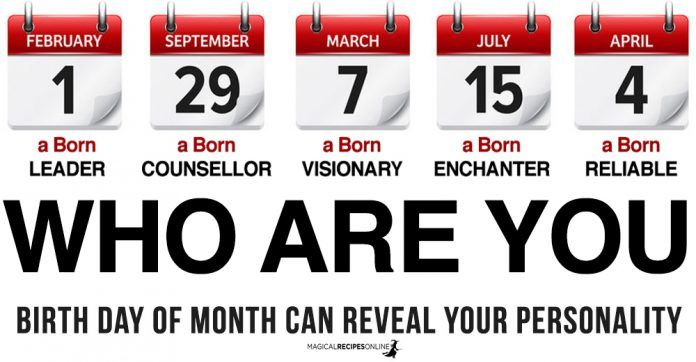 Birth Day of Month can reveal your Personality & Destiny