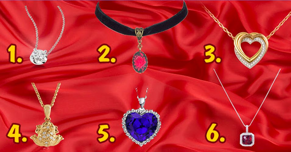 Your Favorite Pendant (Necklace) Reveals What Type Of Woman You Are!
