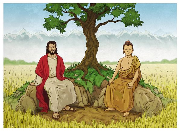 Jesus And Buddha As Brothers!