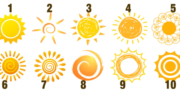 Pick A Sun As Your Emblem And See What It Says About You