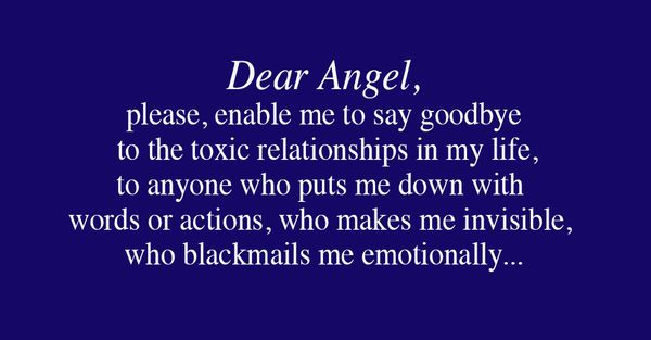 An Angelic Prayer to End Toxic Relationships