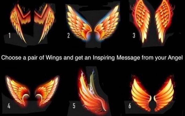 Select a pair of Wings and Receive an Inspiring Message from your Angel!
